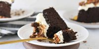 Chocolate Pumpkin Spice Cake with Cream Cheese Frosting | Gluten-Free