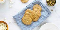 White Chocolate Pistachio Cookie Crisps (Gluten-Free/Egg-Free)