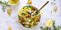 Gluten-Free Fattoush Salad with Za'atar Chickpea Crisps