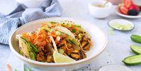 Grilled Tofu Tacos with Gochujang Glaze (Vegan- and Gluten-Free-Optional)