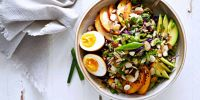 Shaved Brussel Sprout Salad with White Miso Vinaigrette and Soy Sauce Eggs -- and News!