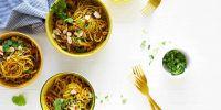 Pan-Fried Singapore Rice Noodles -- aka Curried Pad Thai (Vegetarian + Gluten-Free)