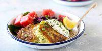 "Pantry-Friendly Zucchini Fritters with Greek Yogurt ""Ranch"""