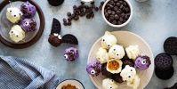 No-Bake Spice Cake Pumpkin Truffles