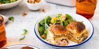 Baked Cheddar, Apple + Smoked Turkey Sliders