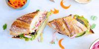 Hoisin-Grilled Eggplant + Avocado Bánh Mì