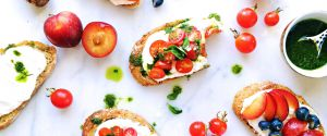 Summer Whipped Ricotta Toast Two Ways