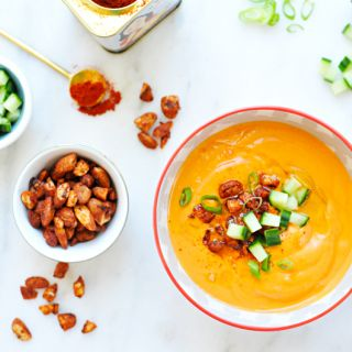 Gazpacho Andaluz with Smoked Paprika-Glazed Almonds
