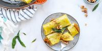 Savory Pumpkin Cannelloni with Candied Walnuts + Crispy Sage (Dairy-Free)