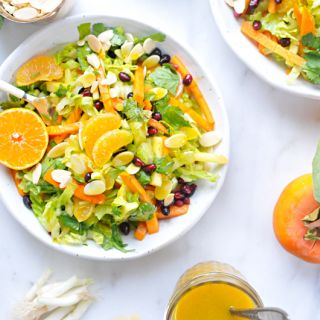 Ultimate Fall Chopped Salad with Honeyed Tangerine-Turmeric Vinaigrette