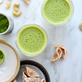 Creamy Cashew-Maple Matcha Lattes (Vegan) + and a Giveaway!