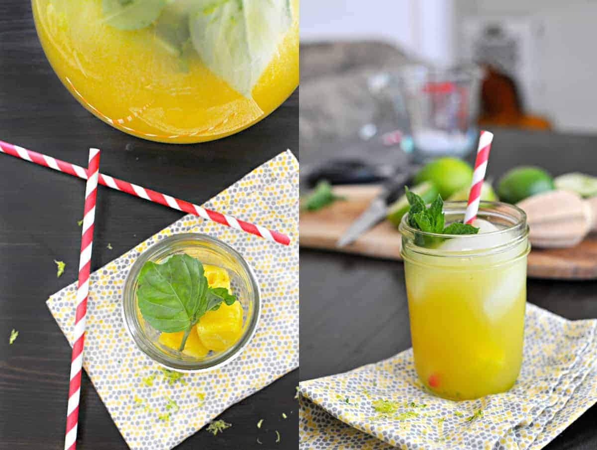 Fizzy Herbed Pineapple Limeade recipe (via thepigandquill.com) #mocktail #partyfood #lemonade #partydrinks