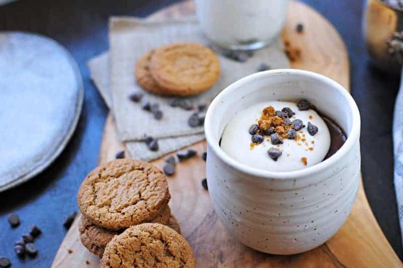 earl grey chocolate pots de creme with honeyed coconut whip (via thepigandquill.com) #dessert #recipe #dairyfree #chocolate