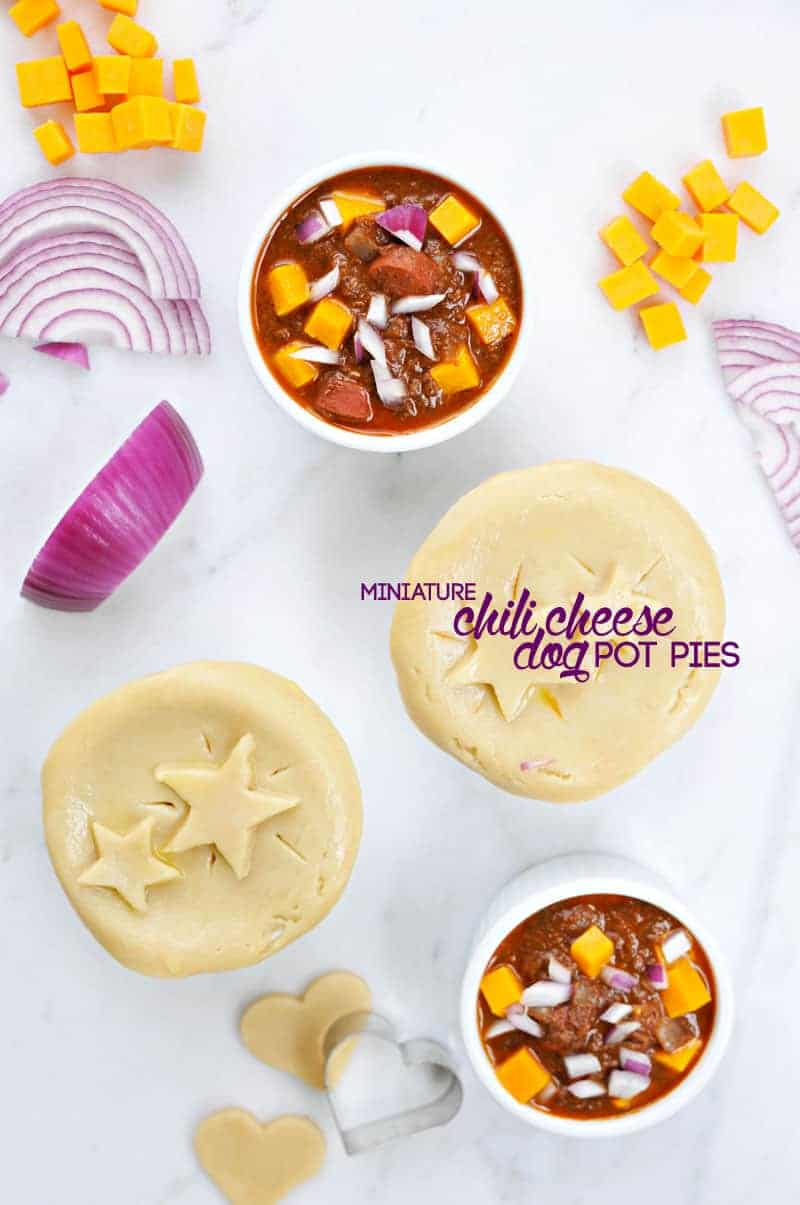 mini chili cheese dog pot pies recipe (via thepigandquill.com) #superbowl