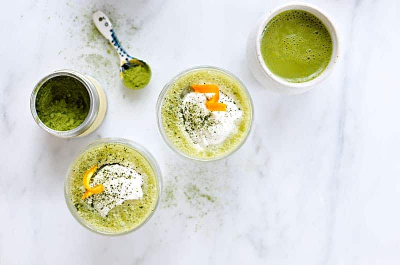 Citrus Matcha Latté recipe hot + iced (via thepigandquill.com) // #vegan #dairyfree #spring #tea