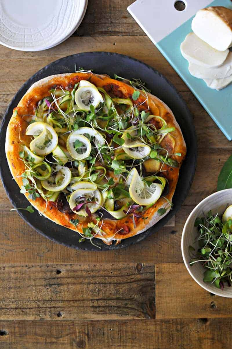 The Ultimate Spring Pizza Recipe // Shaved Asparagus, Roasted Potato, Smoked Mozz + Lemon (via thepigandquill.com) #lunch #brunch #vegetarian