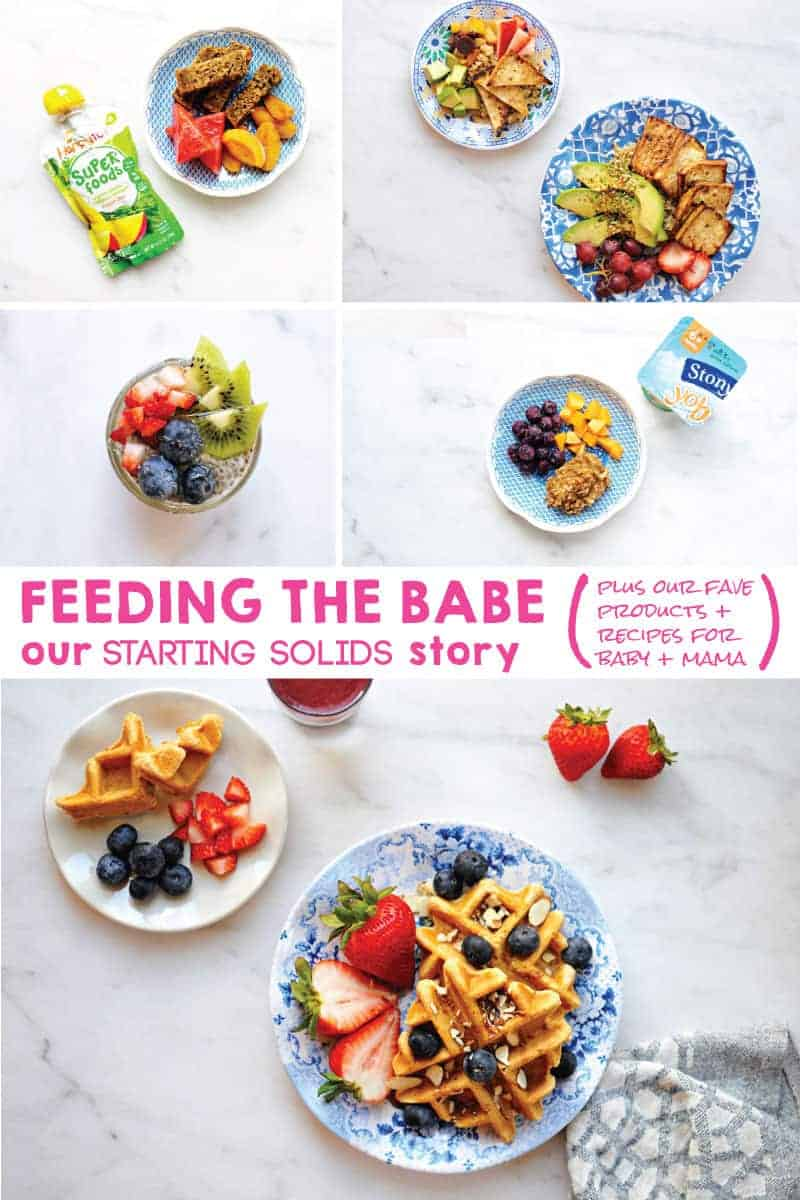 Feeding the Babe: Our Starting Solids Story (plus our favorite products + recipes for baby + mama) from @thepigandquill (via thepigandquill.com) #babyledweaning #blw #babyfood