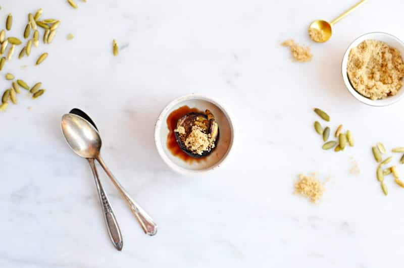 Brown Sugar Panna Cotta with Honey-Balsamic Roasted Figs + Toasted Pepitas recipe (via thepigandquill.com) #dairyfree #dessert #coconutmilk