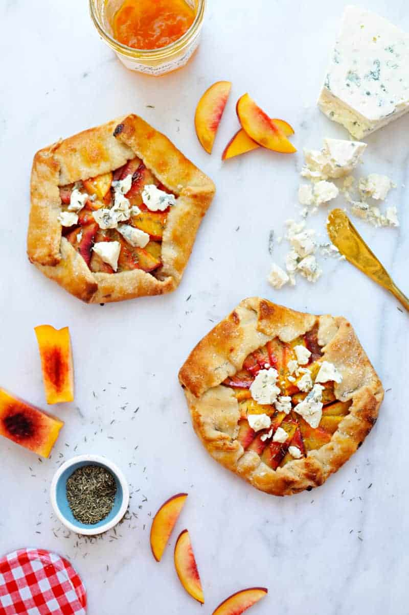Nectarine + Prosciutto Galettes with Gorgonzola + Thyme recipe (via thepigandquill.com) #pastry #baking #pie #dessert