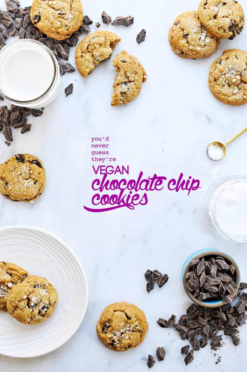 (You'll Never Guess They're) Vegan Chocolate Chip Cookies (via thepigandquill.com) #baking #dairyfree #eggfree