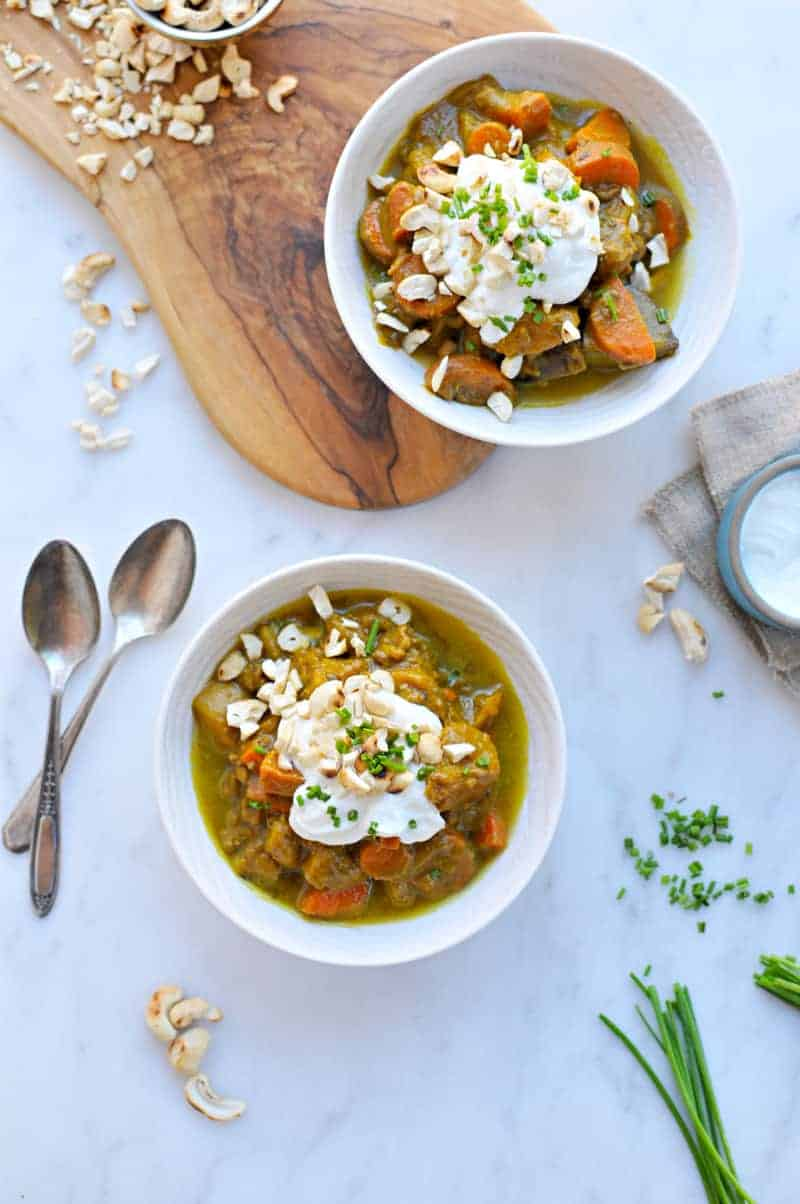 Slow-Cooker Pumpkin Curry Beef Stew recipe (via thepigandquill.com)