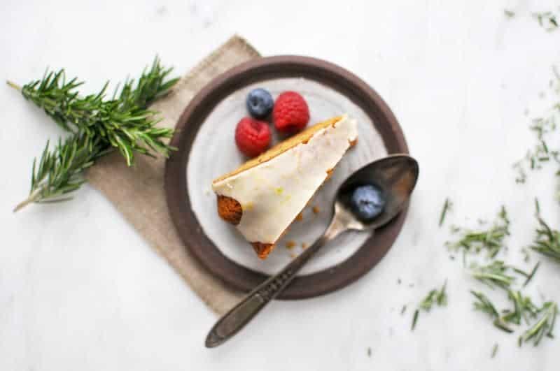 Rosemary Olive Oil Cake with Meyer Lemon Glaze (Gluten-Free) (via thepigandquill.com) #baking #sweets #bundt
