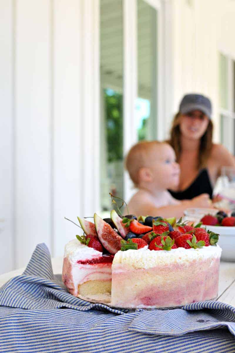 Fruit Basket Ice Cream Cake recipe (via thepigandquill.com) - A show-stopping summer dessert that comes together in 5 minutes!