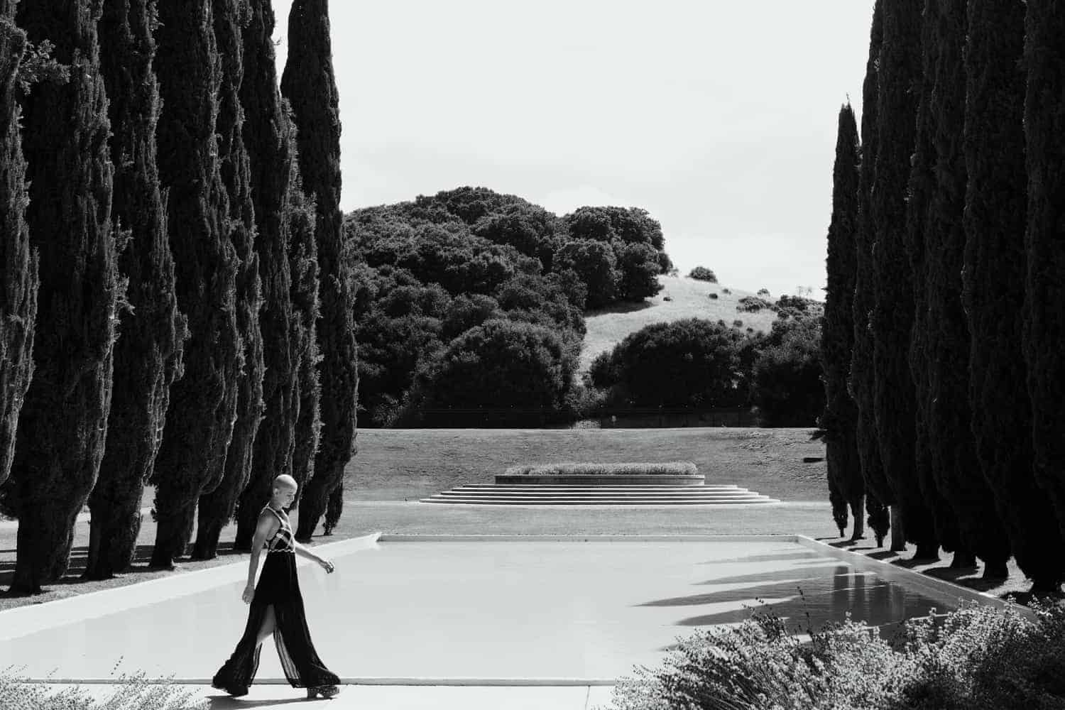 My Cancer Journey - Chemo Patient Walking Along Water Cypress Trees