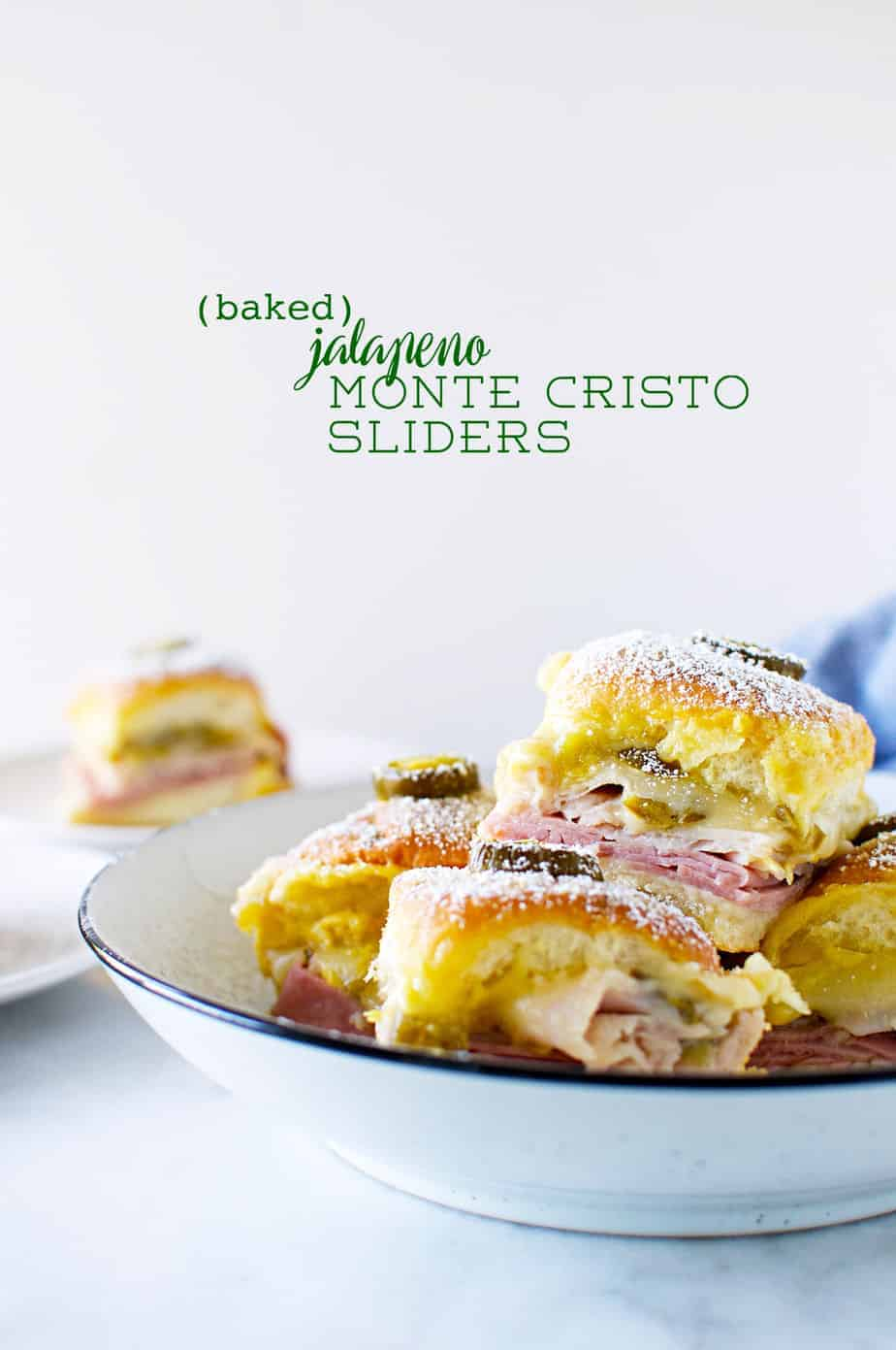 Baked Jalapeño Monte Cristo Sliders recipe (via thepigandquill.com) #turkeysandwich #thanksgivingleftovers #holidayrecipe #spicy