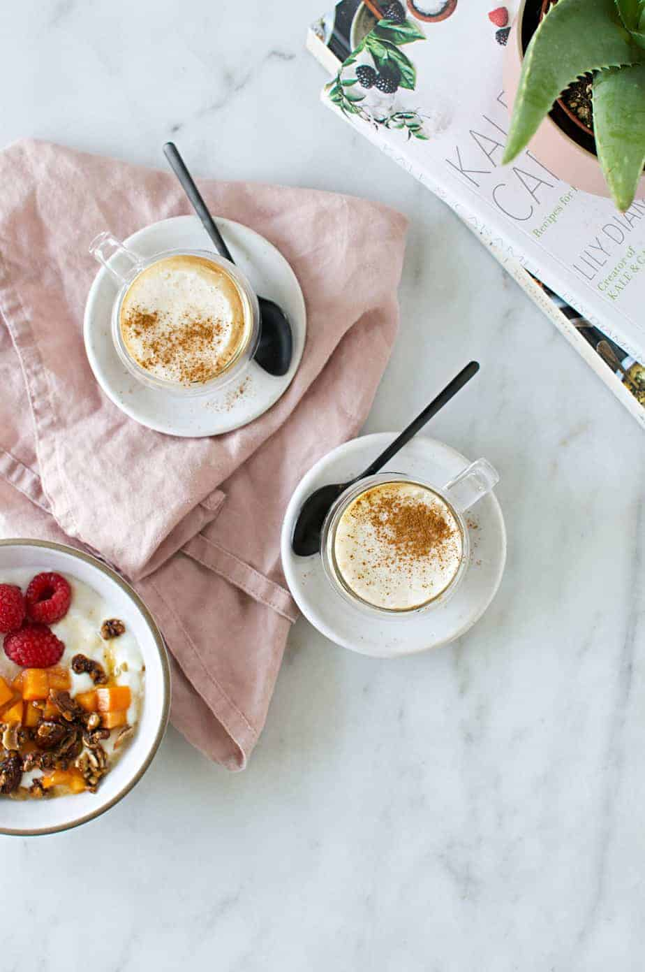 The Reverse Affogato recipe: dark espresso with vanilla bean foam aka my favorite coffee shop espresso at home (via thepigandquill.com) #cappucino #coffeedrink