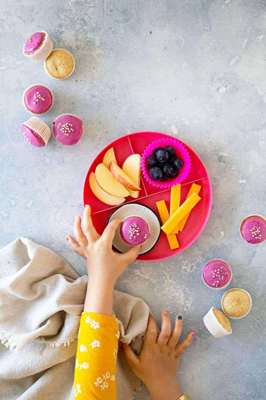 Pink Mini Vegan Donut Muffins recipe via thepigandquill.com #quarantinebaking #baking #eggfree #dairyfree