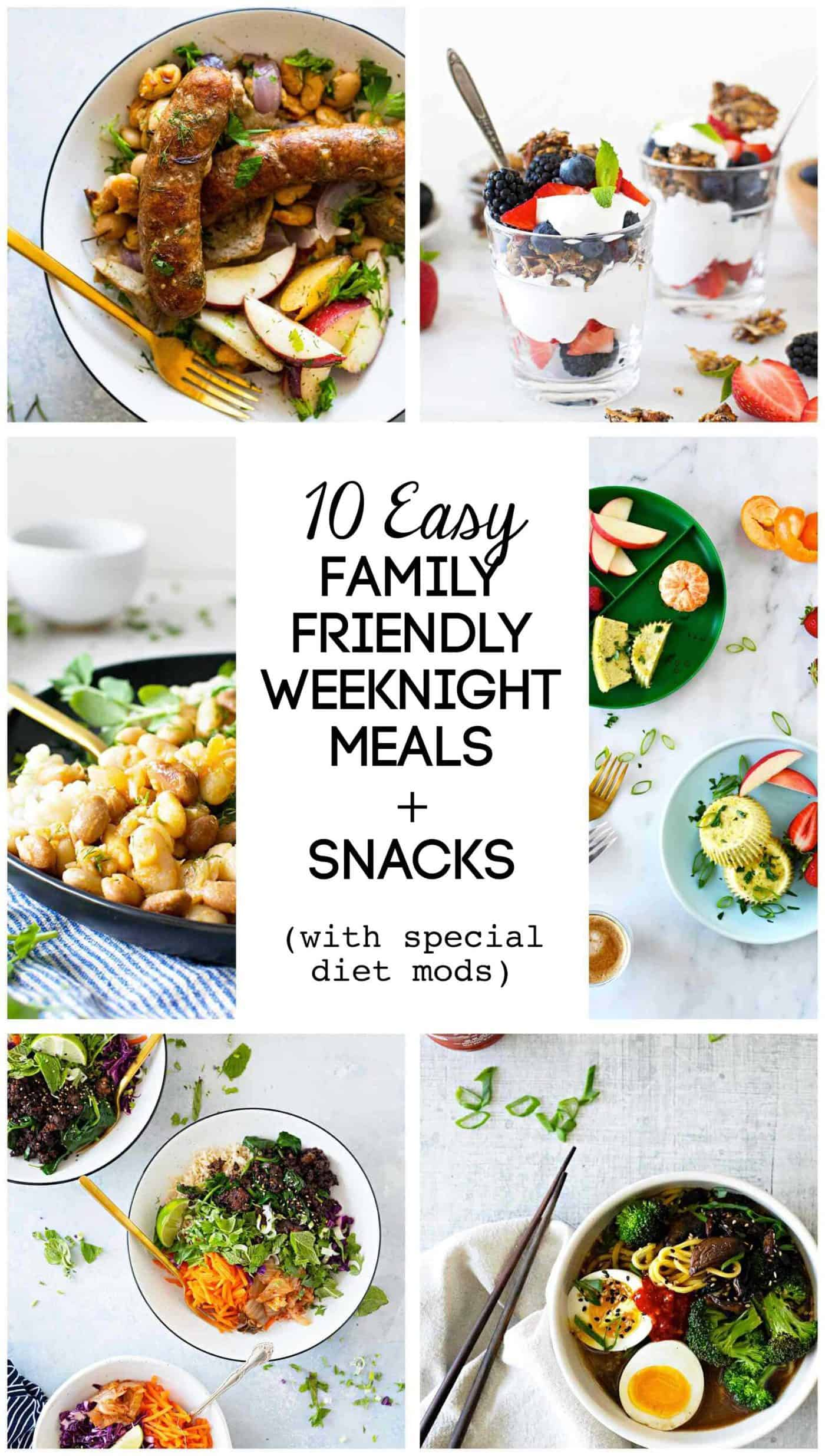 Dinner Inspo: Easy Weeknight Family Friendly Recipes via thepigandquill.com