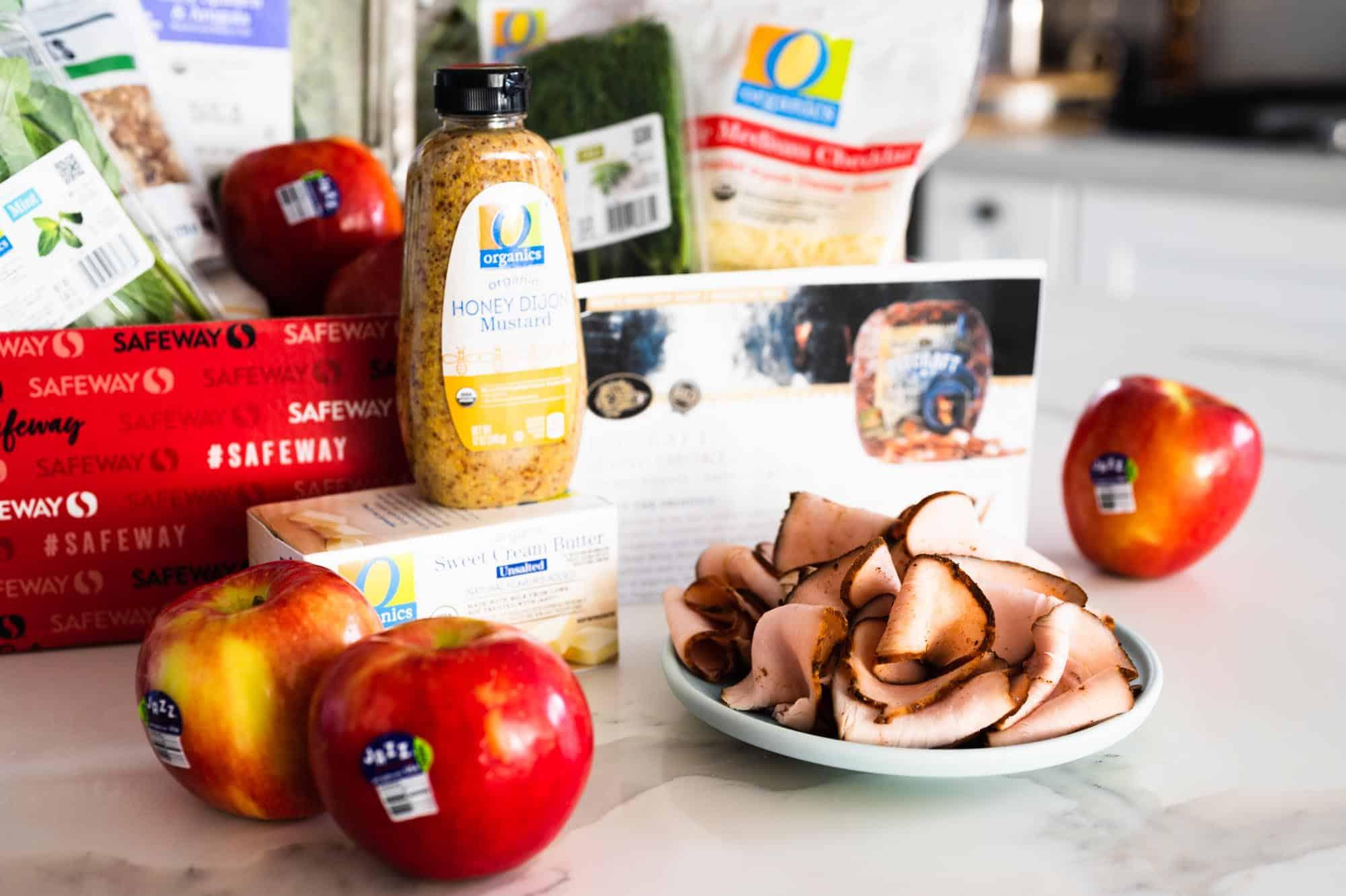 Pig and Quill Safeway Shopping O Organics Jazz Apples Boar's Head Turkey