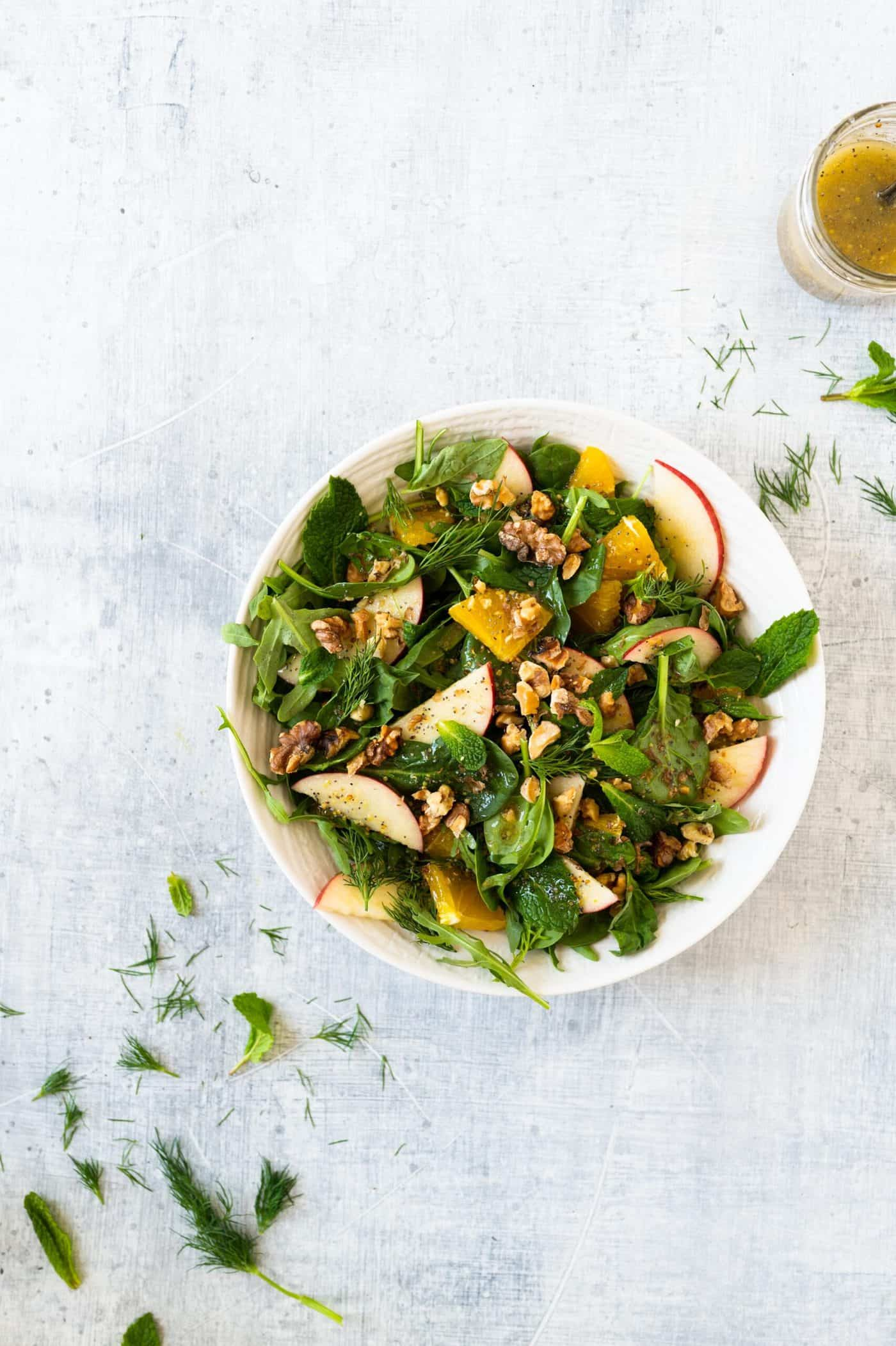 Pig and Quill Spring Herb Salad and Orange Poppyseed Vinaigrette Recipe