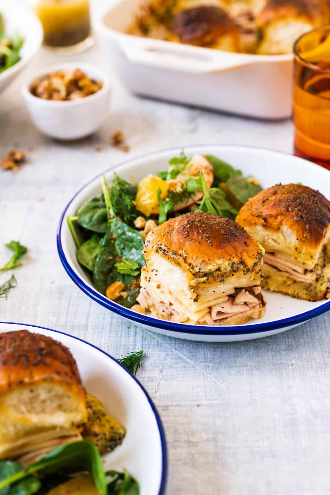 Pig and Quill Baked Smoked Turkey Sliders + Spring Herb Salad Recipe