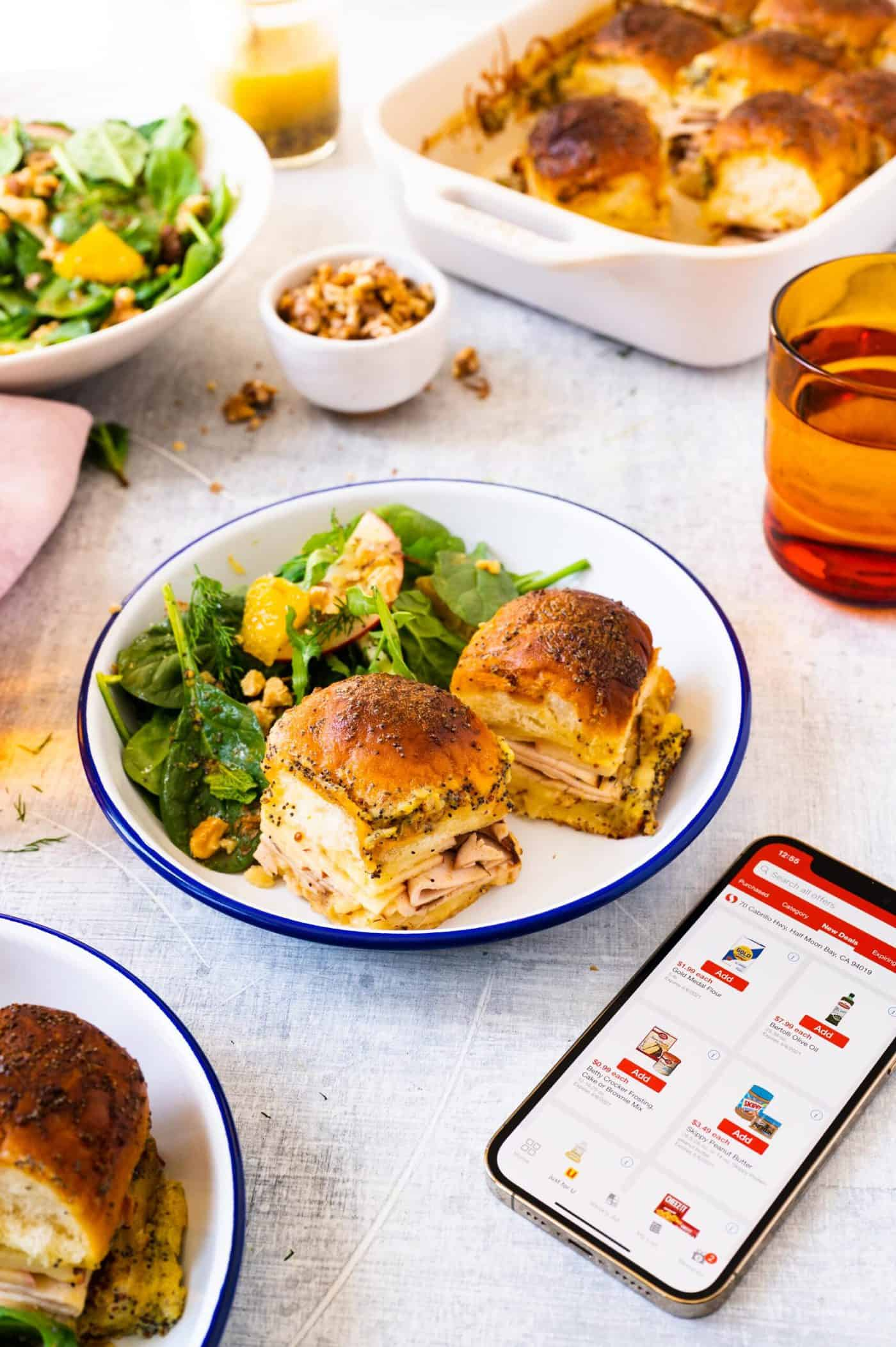 Pig and Quill Baked Smoked Turkey Sliders + Spring Herb Salad Recipe Safeway App